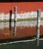 Parete del Boathouse immagini stock