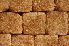 Parete del Brown dei cubi dello zucchero Fotografia Stock Libera da Diritti