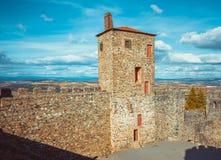 Parete del castello di Braganza Immagine Stock