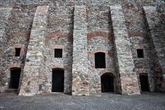 Parete del castello di Bratislava Fotografie Stock