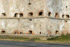 Parete del castello di Medzhybizh, Ucraina Fotografia Stock Libera da Diritti