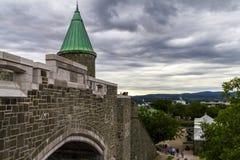 Parete del castello a Québec Fotografia Stock