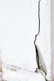 parete del cemento con la crepa Fotografia Stock