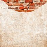 Parete del cemento del mattone fotografie stock