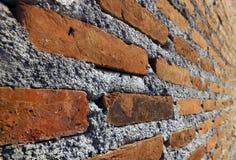 Parete del cemento e del mattone Immagini Stock Libere da Diritti