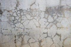 Parete del cemento incrinata, astratto Fotografia Stock Libera da Diritti