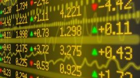Parete del cuore del mercato azionario nel giallo Fotografia Stock Libera da Diritti
