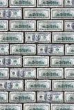 Parete del dollaro Fotografia Stock Libera da Diritti