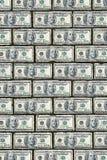 Parete del dollaro Fotografie Stock Libere da Diritti