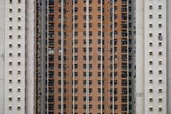 Parete del fondo della costruzione di appartamento fotografia stock