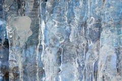 Parete del ghiaccio Immagini Stock