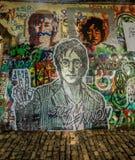 Parete del John Lennon Fotografia Stock