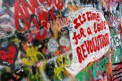 Parete del John Lennon Fotografie Stock Libere da Diritti