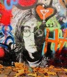 Parete del John Lennon Fotografia Stock Libera da Diritti