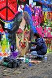 Parete del John Lennon Fotografie Stock