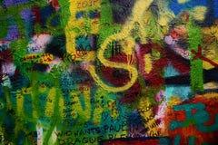 Parete del John Lennon a Praga Immagini Stock Libere da Diritti