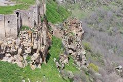 Parete del monastero di Tatev Fotografie Stock