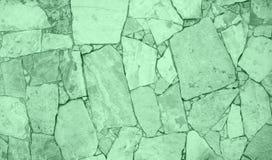 Parete del mosaico dell'arenaria colorata menta neo d'avanguardia fotografia stock