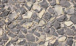 Parete del primo piano nero delle rocce vulcaniche Fotografia Stock Libera da Diritti