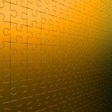 Parete del puzzle dell'oro Fotografie Stock Libere da Diritti