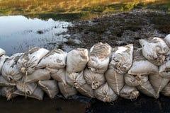 Parete del sacchetto di sabbia Immagine Stock