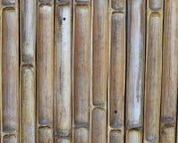 Parete del taglio del bambù con il fondo del chiodo Immagine Stock Libera da Diritti