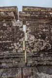 Parete del tempio di Preah Vihear Fotografia Stock