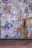 Parete dell'azzurro di Grunge Fotografia Stock