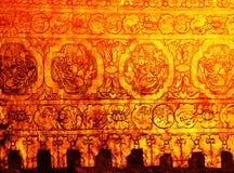 Parete dell'oro dello stupa in Myanmar Immagine Stock Libera da Diritti