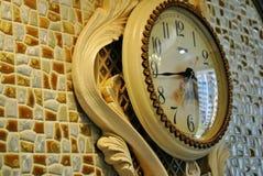 parete della casa della decorazione dell'orologio Fotografia Stock Libera da Diritti