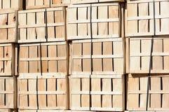 Parete della cassa di legno Fotografia Stock