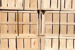 Parete della cassa di legno Fotografie Stock