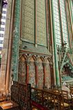 Parete della cattedrale di Amiens di Notre Dame in Piccardia Francia fotografia stock libera da diritti