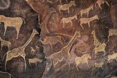 Parete della caverna che dipinge preistorica Immagine Stock Libera da Diritti