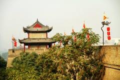Parete della Cina Guardtower Fotografia Stock Libera da Diritti