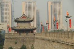 Parete della Cina Guardtower Immagini Stock Libere da Diritti
