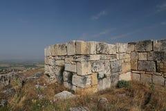Parete della città antica di Hierapolis, Turchia Immagine Stock