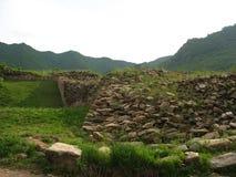 Parete della città del regno antico di Koguryo Immagine Stock