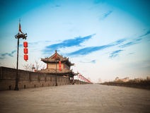 Parete della città del Xian Immagine Stock