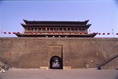 Parete della città della Cina Xian (Xi'an) Fotografia Stock