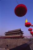 Parete della città della Cina Xian (Xi'an) Fotografia Stock Libera da Diritti