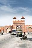 Parete della città di Jaipur, la città dentellare Immagini Stock Libere da Diritti