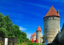 Parete della città di Tallinn, Estonia immagini stock libere da diritti