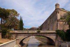 Parete della città, Palma, Majorca Fotografia Stock