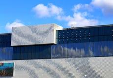 Parete della costruzione alta tecnologia moderna di stile Fotografia Stock