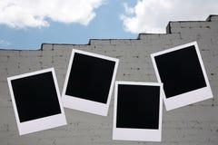 Parete della costruzione del Polaroid Fotografie Stock Libere da Diritti