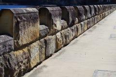 Parete della diga della cataratta Fotografia Stock