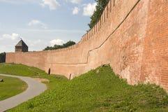 Parete della fortezza Fotografie Stock