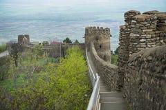 Parete della fortezza delle grande del castello di Signagi Sighnaghi Fotografia Stock Libera da Diritti