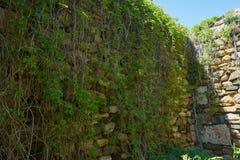 Parete della fortezza di Histria fondata BC dai coloni greci 656 Fotografia Stock